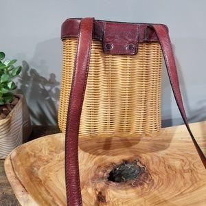 Etienne Aigner Bags - Vintage Aigner Wicker Handbag
